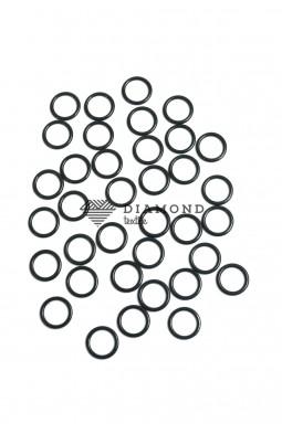 Кольцо металл 10 мм зеленый