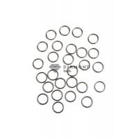 Кольцо металл 10 мм серебро