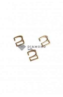 Крючок для обуви цв.золото 10 мм
