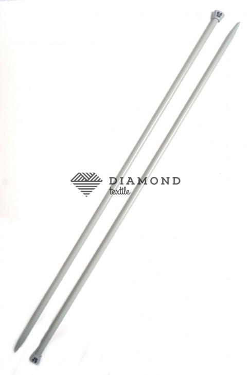 Спицы прямые Needles металлические 6.0 мм - 38,5 см