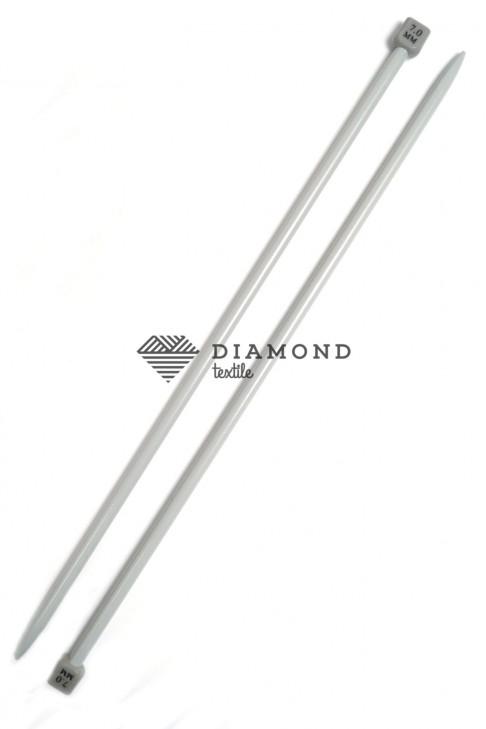 Спицы прямые Poniy металлические 7.0 мм - 35 см